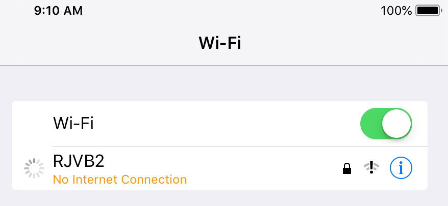 Need to set up WiFi network that does not use internet