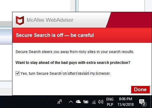 Mcafee WebAdvisor    - Anti-Virus, Anti-Malware, and Privacy